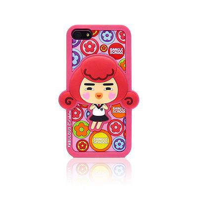【摩達客】韓國Fabulous進口 小花Yola粉紅3D矽膠保護套/iPhone5手機套