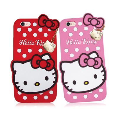 三麗鷗授權 iPhone 6/6s i6s 4.7吋 凱蒂貓立體矽膠保護殼