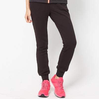 FIVE-UP-女-簡約休閒針織長褲-黑