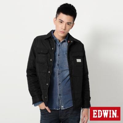 EDWIN-襯衫式鋪棉外套-男-黑色