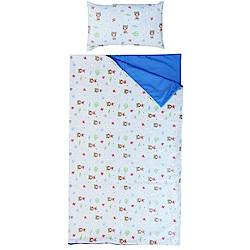 【麗嬰房】nac nac 糖果熊兩用睡袋2件組-兩用被+枕 (藍)