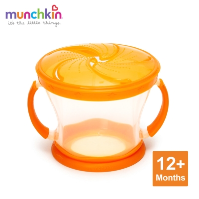 munchkin滿趣健-防漏零食杯-橘