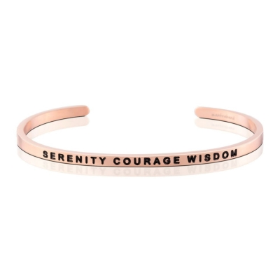 MANTRABAND Serenity Courage Wisdom 沉著勇氣智慧 玫瑰金