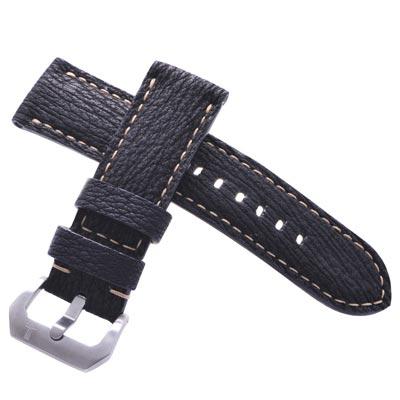 TED SU 太和錶帶 薩利機長Panerai 沛納海代用帶黑色鯊魚米色線-24*24mm