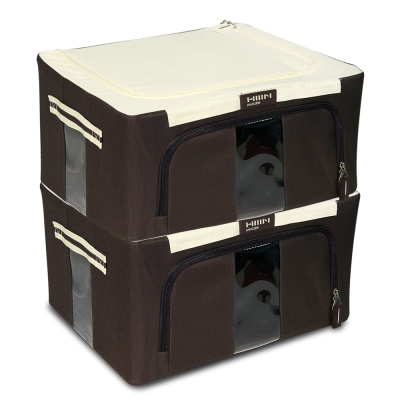 WallyFun 摺疊防水收納箱 -24L -棕色 (超值2入組) ~超強荷重款