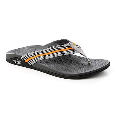 美國Chaco。男 夾腳拖鞋CH-WCM01HD28 (緹花橘灰)