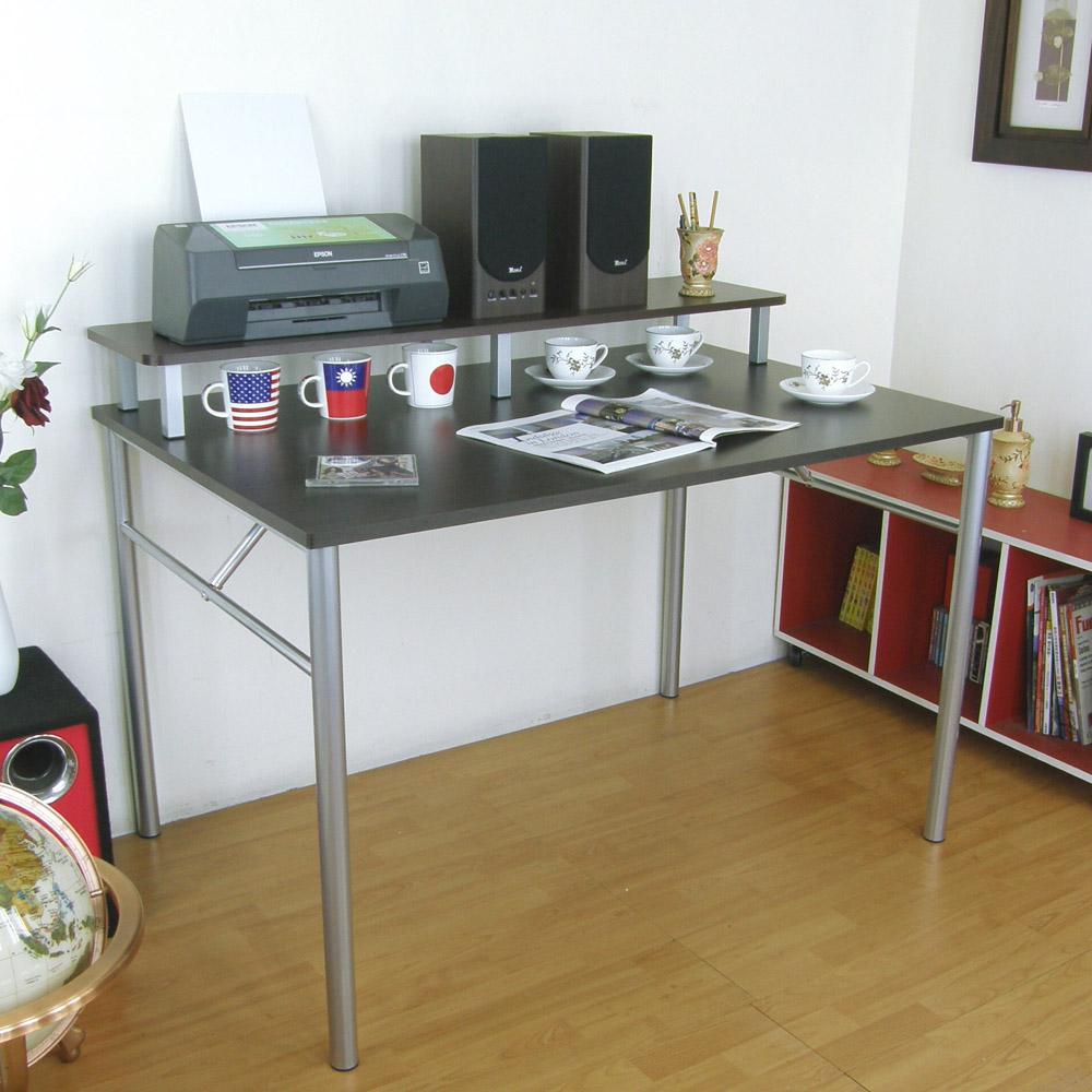 頂堅(大桌面80x120cm)書桌(附120cm桌上架/二色)