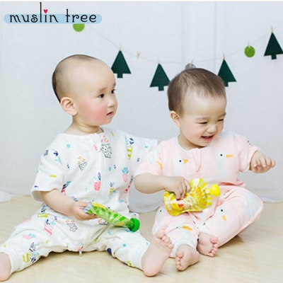 【荷蘭Muslin tree】純棉紗布卡通印花短袖連身兒童分腿褲- 8 款