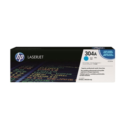 HP CC531A 304原廠藍色碳粉