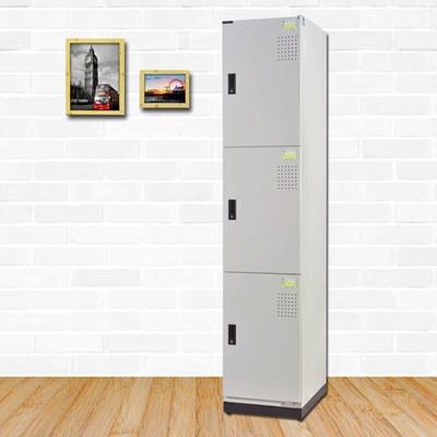 時尚屋 巴勒斯多用途鋼製三層置物櫃 寬39x深45x高185cm