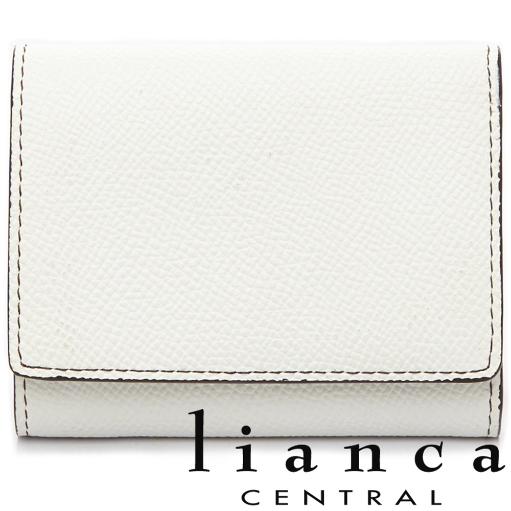 lianca 純手工製牛皮零錢包短夾 雲朵白