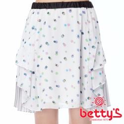 betty's貝蒂思 圓點百摺雙層雪紡