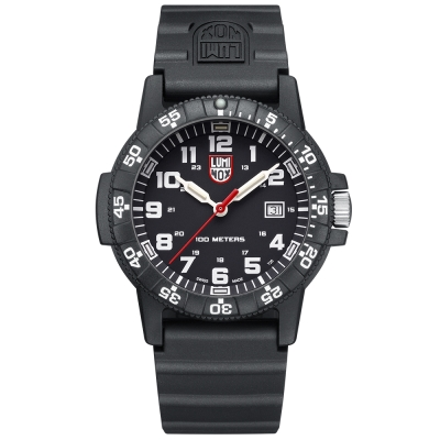 LUMINOX 雷明時SEA TURTLE 0320海龜系列腕錶-黑x白時標/44mm