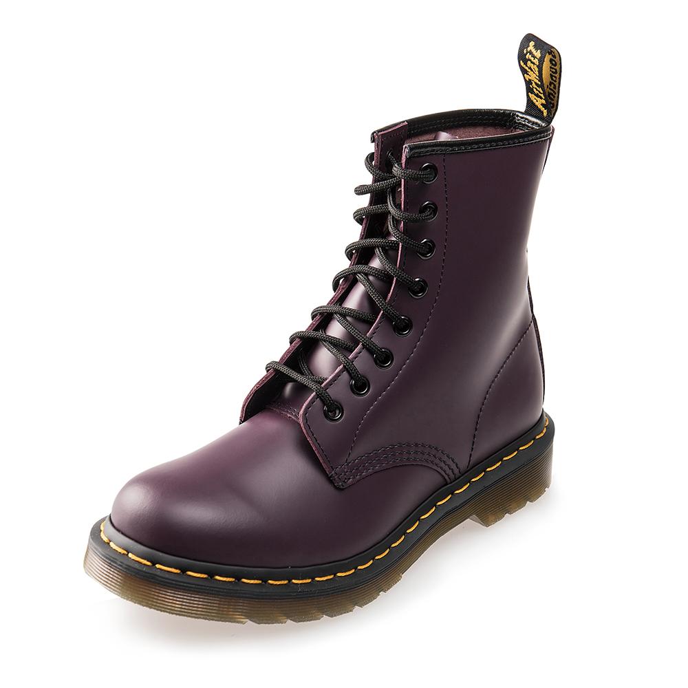 Dr.Martens 經典1460W 8孔亮皮馬汀馬丁靴*紫色R11821500