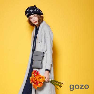 gozo-極簡主義無車邊感大口袋開襟外套-二色-動