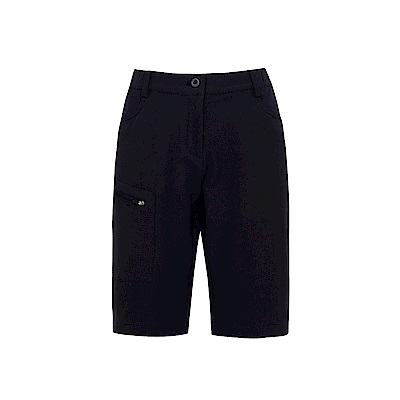 FILA 女超潑水平織短褲-黑 5SHS-1321-BK