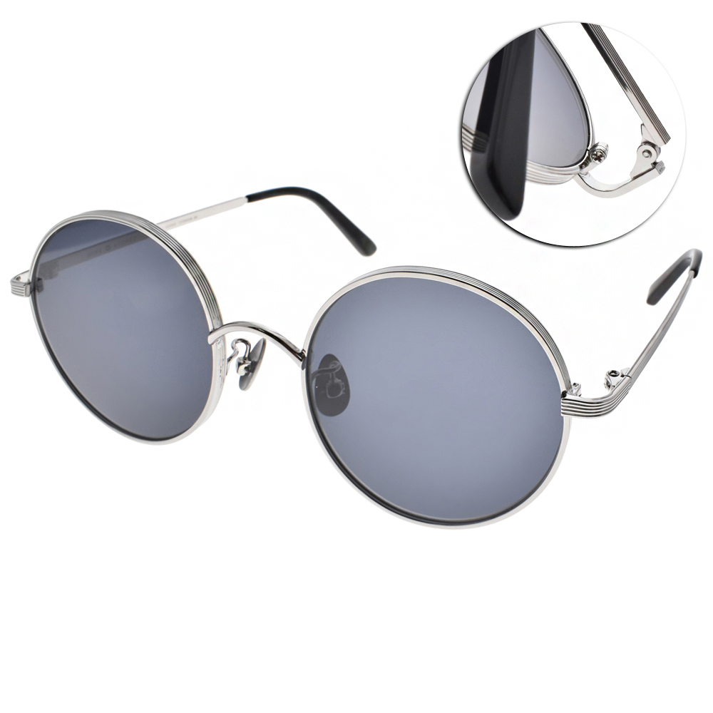 NINE ACCORD太陽眼鏡 輕量復古圓框/銀-藍鏡片#KISSING MUZE C02