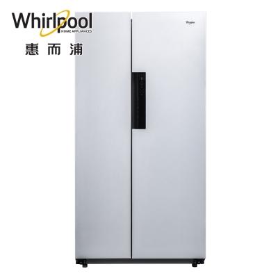 Whirlpool惠而浦600L白色水晶玻璃對開門變頻冰箱 WHS600LW