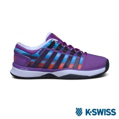K-Swiss Hypercourt專業網球鞋-女-紫/條紋
