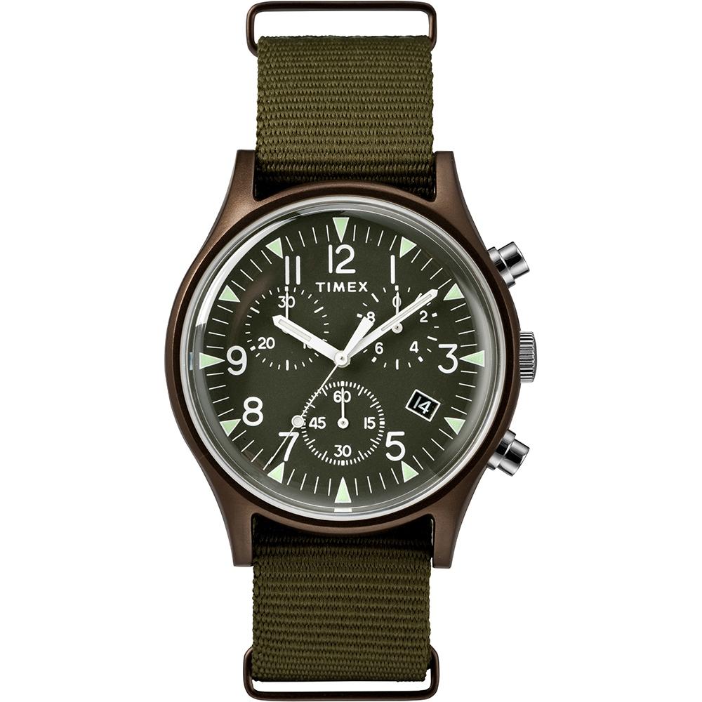 TIMEX 天美時 MK1 潮流軍錶 三眼計時手錶-橄欖綠/40mm