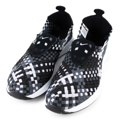 NIKE-AIR WOVEN男編織鞋-黑灰