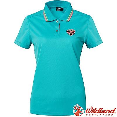 Wildland 荒野 0A61617-67湖水綠 女Coolmax排汗POLO衫