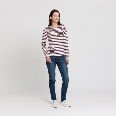 Hang Ten - 女裝 - 經典刷色直筒牛仔褲