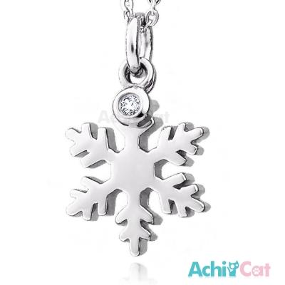 AchiCat 珠寶白鋼項鍊 晶亮雪花