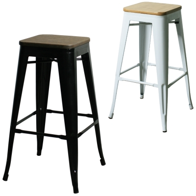 YOI傢俱 威克工業風金屬吧台椅(高腳椅) 45 x 45 x 76 . 5 cm