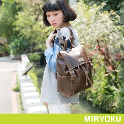 MIRYOKU經典復古皮革系列-小SIZE款率性束