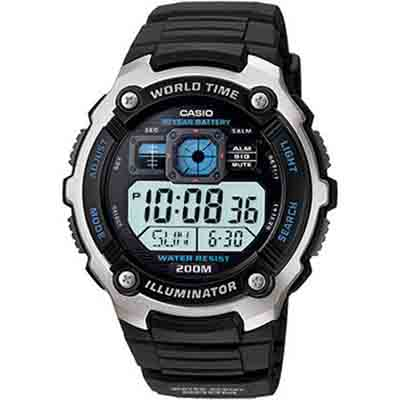 CASIO深海潛將數位電子膠帶錶AE-2000W-1A-47.7mm