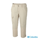 【Columbia哥倫比亞】女-快排防曬50七分褲-米白 UAR80090LE