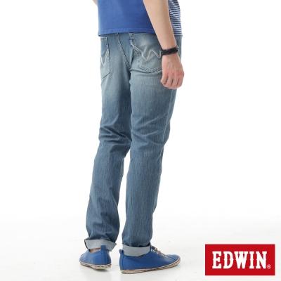EDWIN 大尺碼AB褲 迦績褲JERSEYS涼感牛仔褲-男-石洗藍