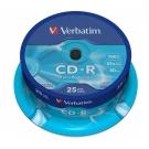 Verbatim 威寶 CD-R 700MB 52X 光碟片 布丁桶裝 (25片)