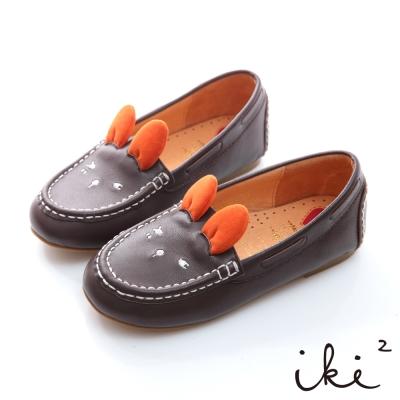 iki2童鞋-咕妮兔冒險系列眨眼百搭懶人鞋-質感咖