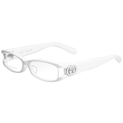 GUCCI-時尚光學眼鏡(白色)