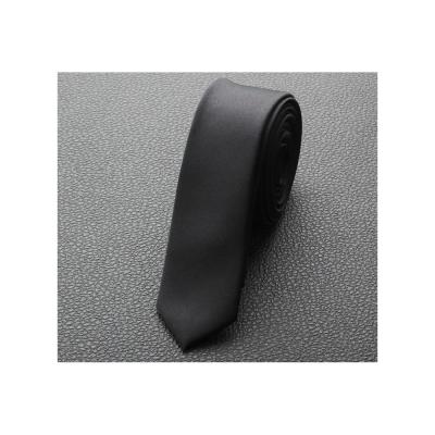 拉福 極細3.5cm黑色超窄版領帶手打領帶 黑