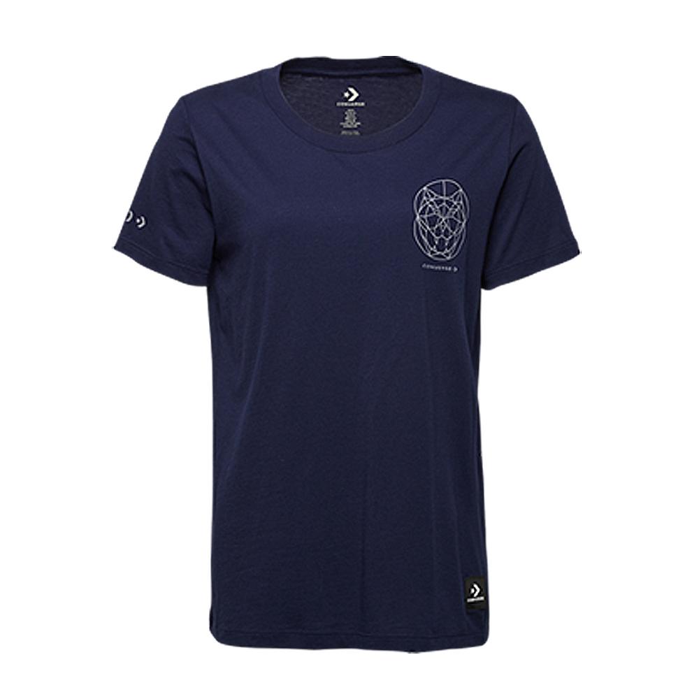 CONVERSE-女休閒短T恤10007518-A01-藍