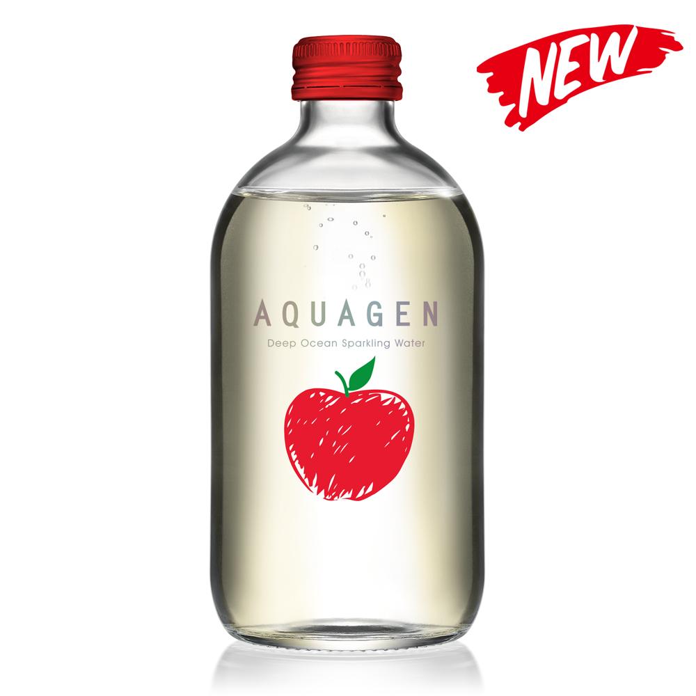 AQUAGEN 海洋深層氣泡水-奧地利香蘋風味(330mlx24瓶/箱)