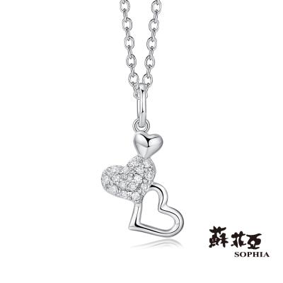蘇菲亞SOPHIA 鑽鍊 - 心連情鑽石項鍊(共兩色)