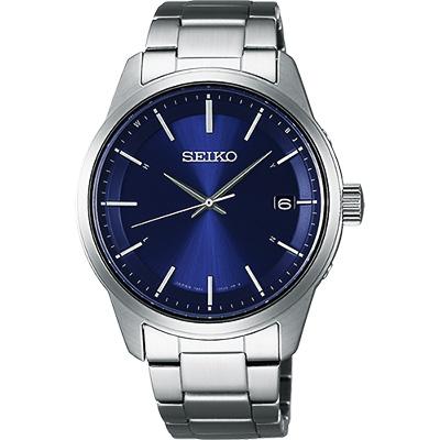 SEIKO SPIRIT 萬年曆太陽能電波腕錶(SBTM231J)-藍/40mm