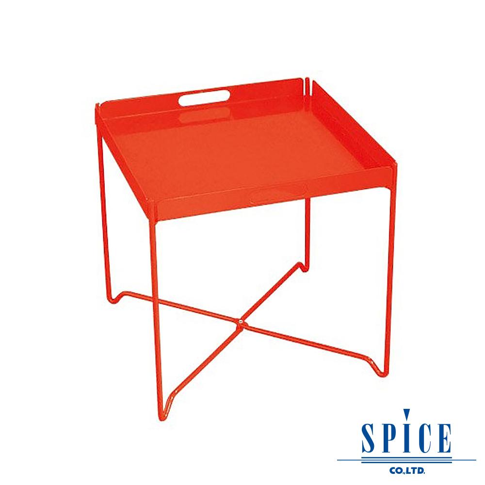 【日本 SPICE 】 戶外休閒 時尚 紅色 輕巧收納 托盤餐桌