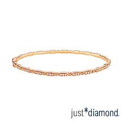 鎮金店 Just Diamond 鑽石玫瑰金 手環-Rosana