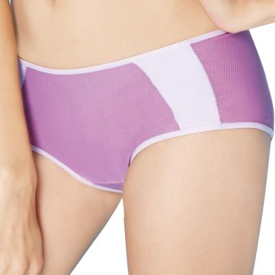 思薇爾 K.K Fit系列M-XL中低腰素面平口褲(桂花紫)