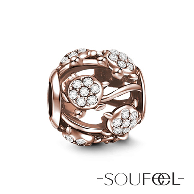 SOUFEEL索菲爾 925純銀珠飾 海龜(玫瑰金) 串珠