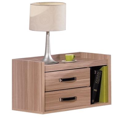 品家居 瓊斯橡木紋二抽床頭櫃-60x40x40cm-免組