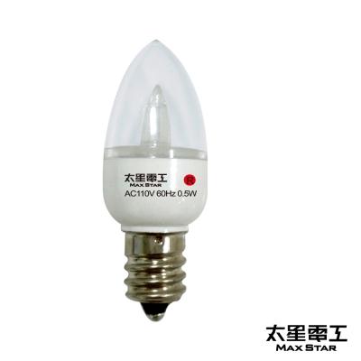 太星電工 四季光超亮LED小夜燈泡E12/<b>0</b>.5W/紅光 ANB228R