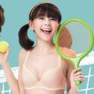 嬪婷 校園運動背心網洞水晶紗B-C 罩杯內衣  (清新桔)好穿舒適-冰涼降溫