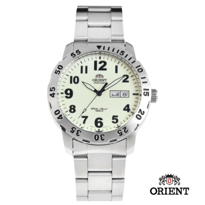 ORIENT 東方錶 WATER RESISTANT系列 全夜光錶面機械錶-43mm