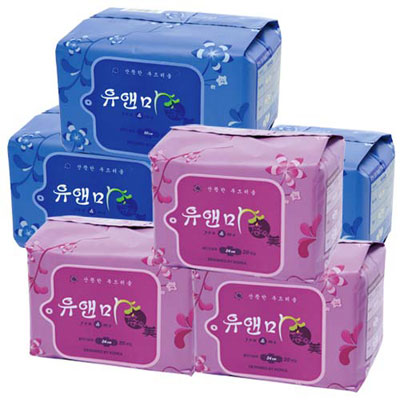 悠安美漢方衛生棉-B組合(日用x3、夜用x3)